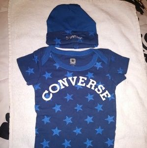 CONVERSE BABY ONESIE WITH HAT